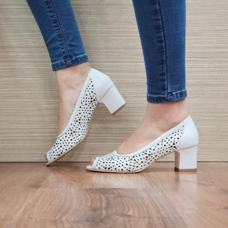 Pantofi Dama Piele naturala Albi Dona D024541