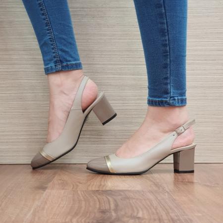 Pantofi Dama Piele Naturala Bej Kelsey D02382 [1]