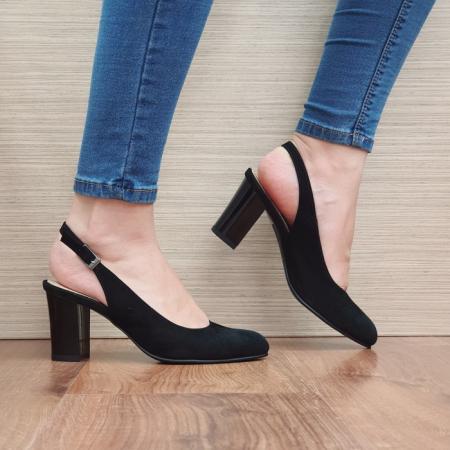 Pantofi Dama Piele Naturala Corvaris Negri Illy D023880