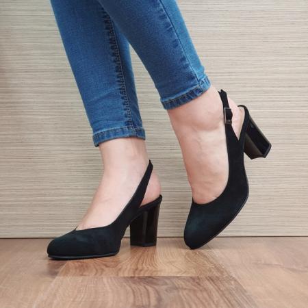 Pantofi Dama Piele Naturala Corvaris Negri Illy D023882