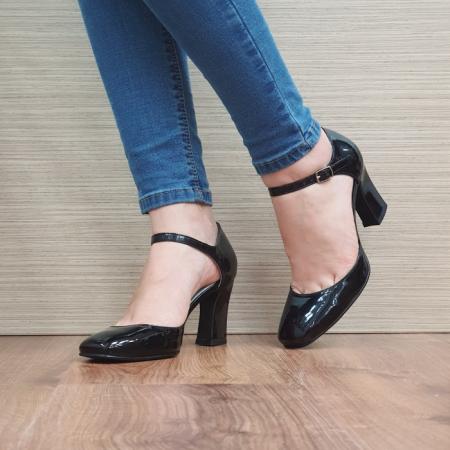 Pantofi Dama Piele Naturala Corvaris Negru Timea D024972