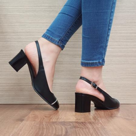 Pantofi Dama Piele Naturala Guban Negri Edith D023923