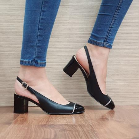 Pantofi Dama Piele Naturala Guban Negri Edith D023920