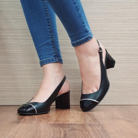Pantofi Dama Piele Naturala Guban Negri Edith D023922