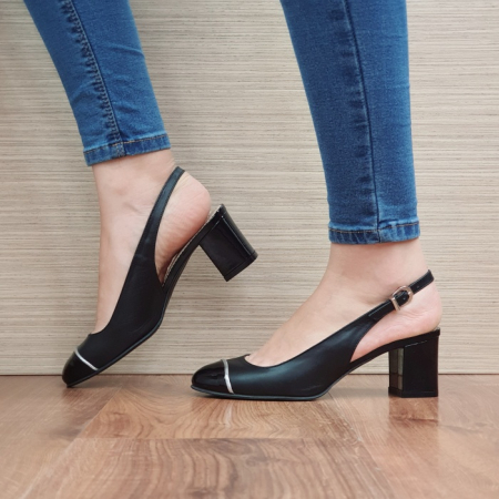 Pantofi Dama Piele Naturala Guban Negri Edith D023921