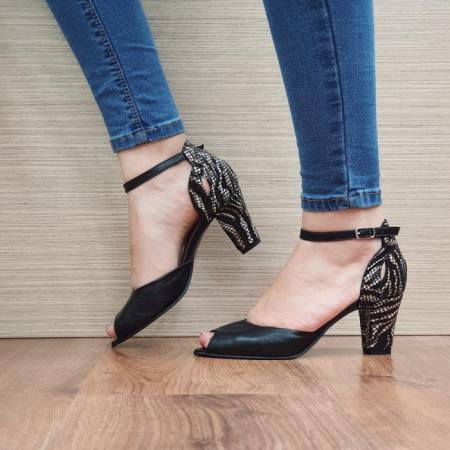 Pantofi Dama Piele Naturala Moda Prosper Negri Samara D024021
