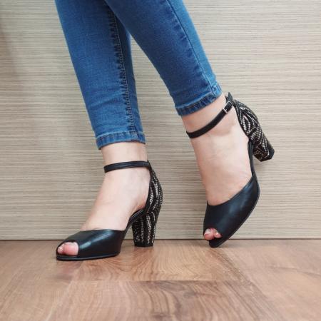 Pantofi Dama Piele Naturala Moda Prosper Negri Samara D024022