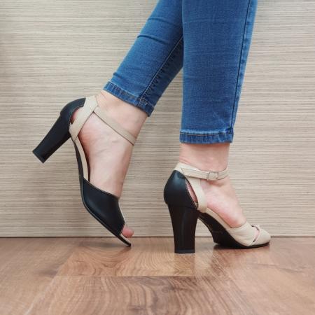 Pantofi Dama Piele Naturala Negri Adora D02398 [3]
