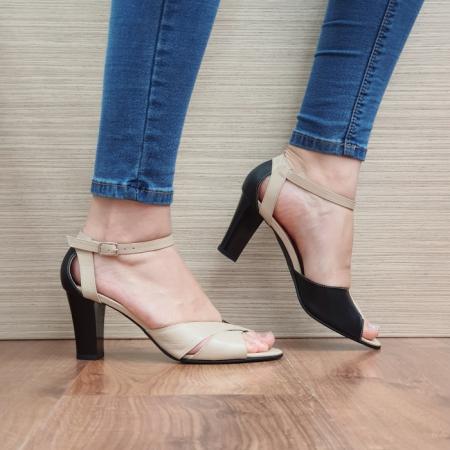 Pantofi Dama Piele Naturala Negri Adora D02398 [0]