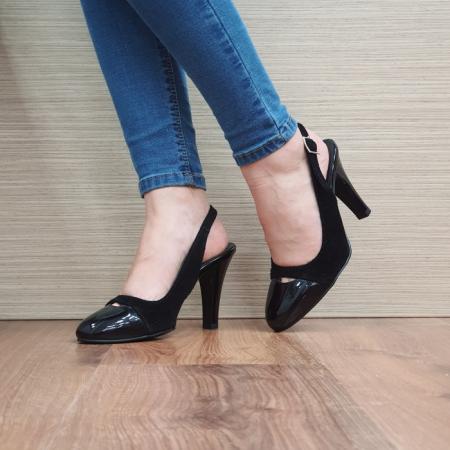 Pantofi Dama Piele Naturala Negri Agnes D024992