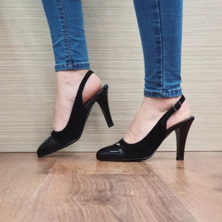 Pantofi Dama Piele Naturala Negri Agnes D024991