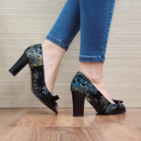 Pantofi Dama Piele Naturala Negri Annabella D024203