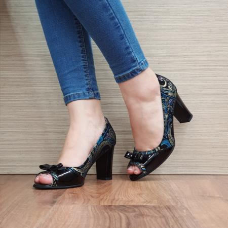 Pantofi Dama Piele Naturala Negri Annabella D024202