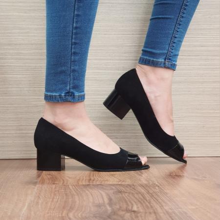 Pantofi Dama Piele Naturala Negri Ariela D023840