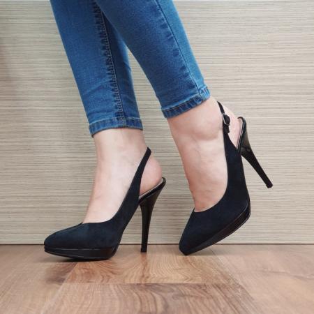 Pantofi Dama Piele Naturala Negri Iman D02394 [2]