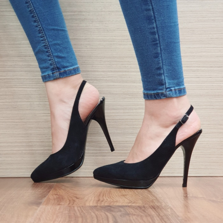 Pantofi Dama Piele Naturala Negri Iman D02394 [1]