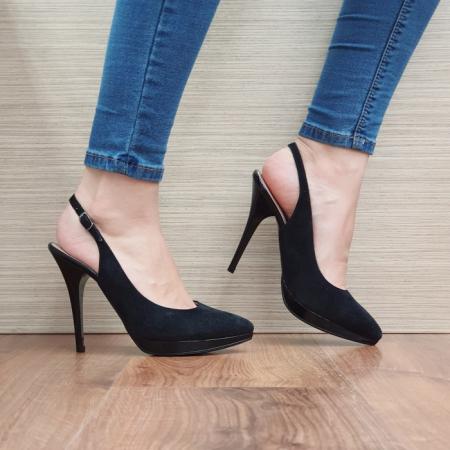 Pantofi Dama Piele Naturala Negri Iman D023940