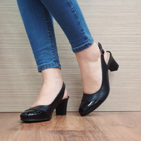 Pantofi Dama Piele Naturala Negri Sacha D02389 [2]