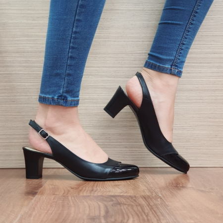 Pantofi Dama Piele Naturala Negri Sacha D02389 [0]
