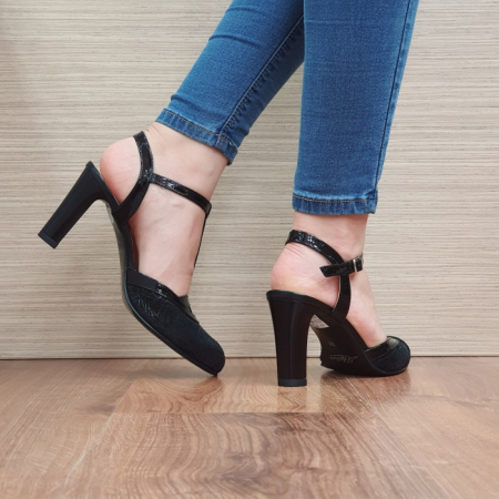 Pantofi Dama Piele Naturala Negri Sonia D023813
