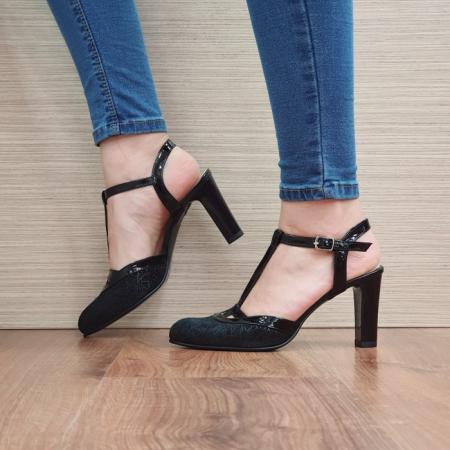 Pantofi Dama Piele Naturala Negri Sonia D023811