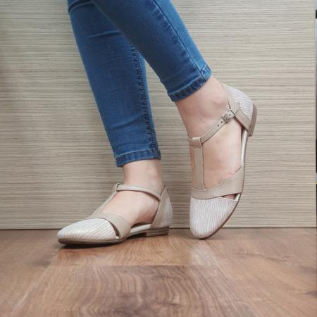 Pantofi Dama Piele Naturala Nude Irina D024582