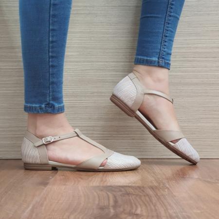 Pantofi Dama Piele Naturala Nude Irina D024580