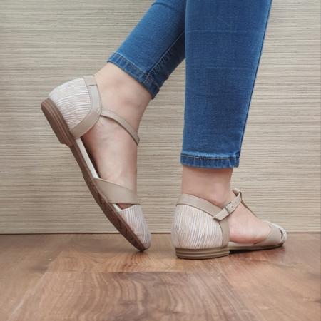 Pantofi Dama Piele Naturala Nude Irina D024583