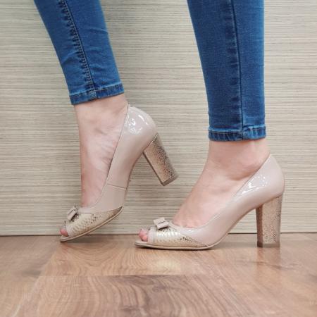 Pantofi Dama Piele Naturala Nude Roberta D024061