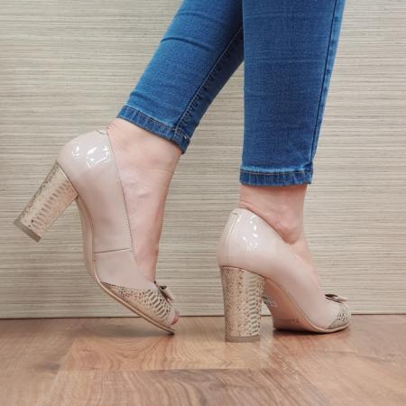 Pantofi Dama Piele Naturala Nude Roberta D024063