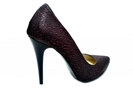 Pantofi cu toc Piele Naturala Grena Barbara D012743
