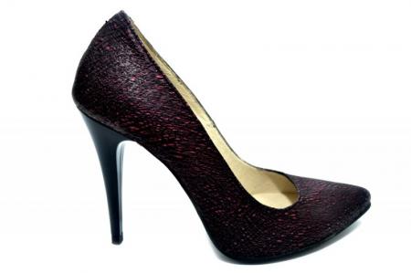 Pantofi cu toc Piele Naturala Grena Barbara D012740
