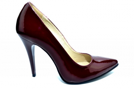 Pantofi cu toc Piele Naturala Grena Barbara D013080