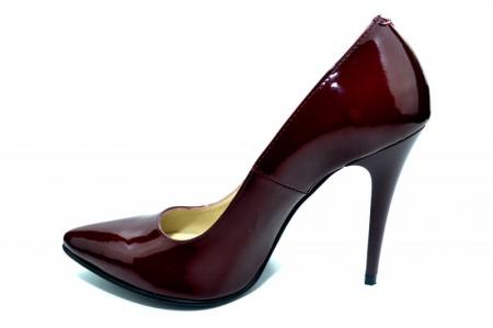 Pantofi cu toc Piele Naturala Grena Barbara D013081