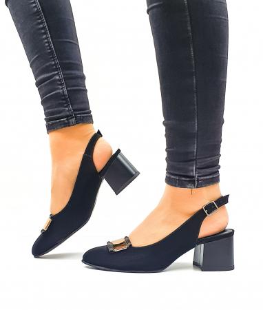 Pantofi Dama Piele Naturala Negri Moda Prosper Alfonsina D026351
