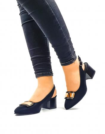 Pantofi Dama Piele Naturala Negri Moda Prosper Alfonsina D026350