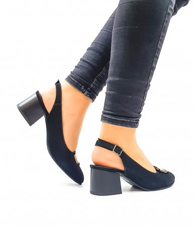 Pantofi Dama Piele Naturala Negri Moda Prosper Alfonsina D026353