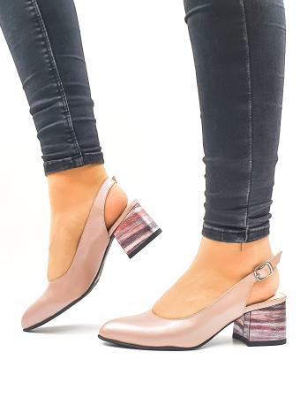 Pantofi Dama Piele Naturala Roz Moda Prosper Carmina D026360