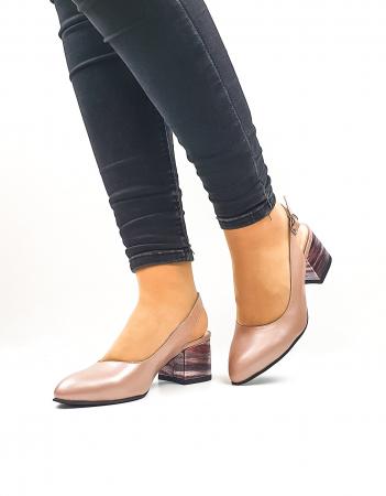 Pantofi Dama Piele Naturala Roz Moda Prosper Carmina D026362