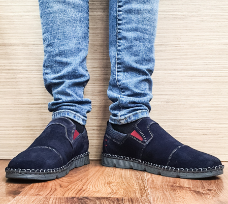 Pantofi Casual Barbati Piele Naturala Bleumarin Ethan B000980