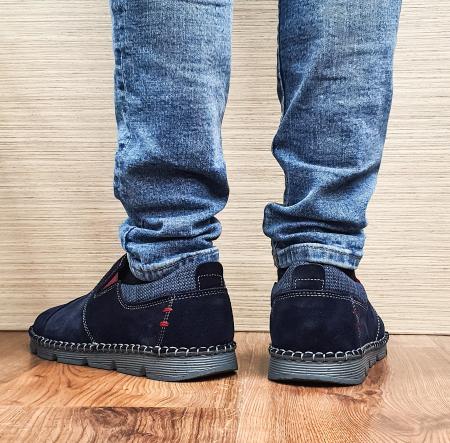 Pantofi Casual Barbati Piele Naturala Bleumarin Ethan B000981