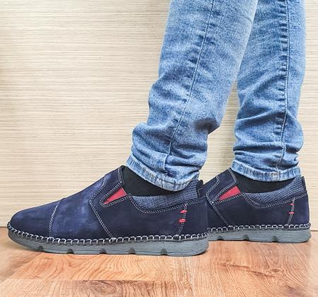 Pantofi Casual Barbati Piele Naturala Bleumarin Ethan B000982