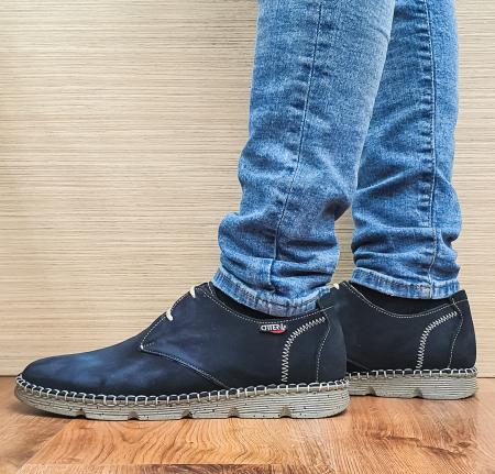 Pantofi Casual Barbati Piele Naturala Bleumarin Elisei B000971
