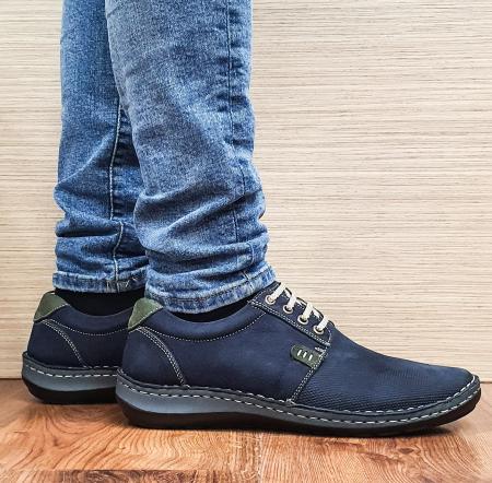 Pantofi Casual Barbati Piele Naturala Bleumarin Alexandru B000960