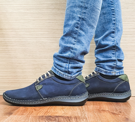 Pantofi Casual Barbati Piele Naturala Bleumarin Alexandru B000961
