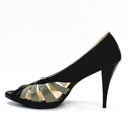 Pantofi Dama Piele Naturala Negri Moana D026631