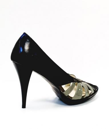 Pantofi Dama Piele Naturala Negri Moana D026633