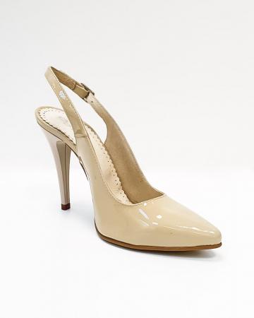 Pantofi Dama Piele Naturala Nude Amona D026651