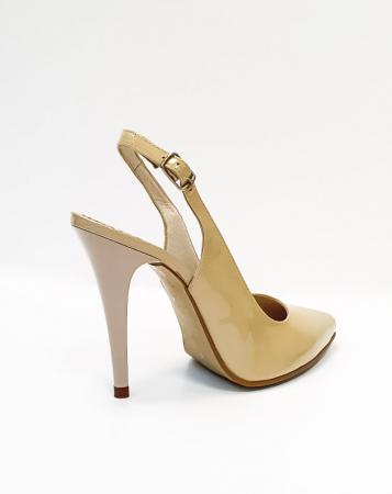 Pantofi Dama Piele Naturala Nude Amona D026654