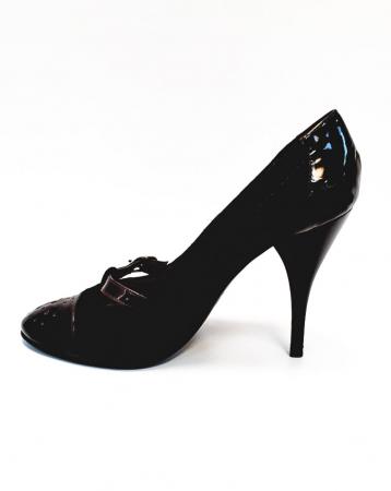 Pantofi cu toc Piele Naturala Corvaris Maro Cerma D026791
